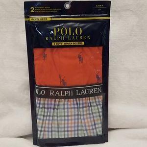 2 Boys Polo Ralph Lauren Woven Boxers